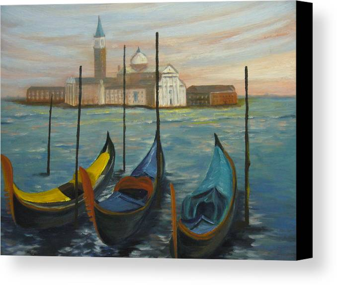Italy Canvas Print featuring the painting Venice by Joe Lanni