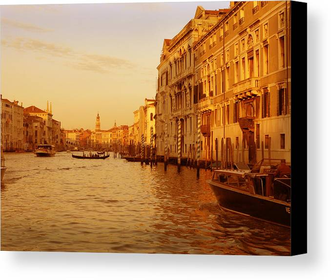 Venezia Canvas Print featuring the photograph Venice Viii by Rodika George