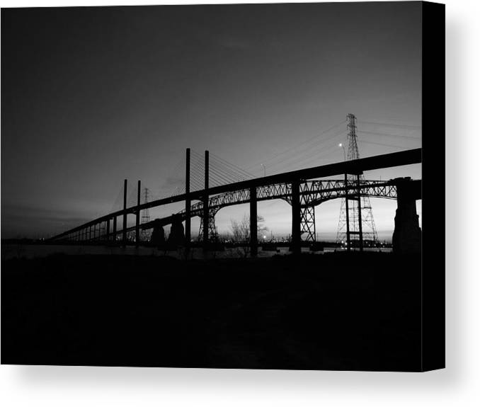 Landscape Canvas Print featuring the photograph Veterans Memorial And Rainbow Bridges by Jerry Connally