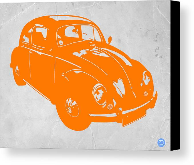 Canvas Print featuring the photograph Vw Beetle Orange by Naxart Studio