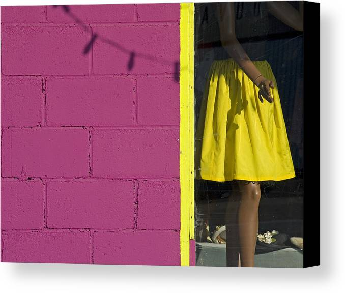 Woman Canvas Print featuring the photograph Waiting by Skip Hunt