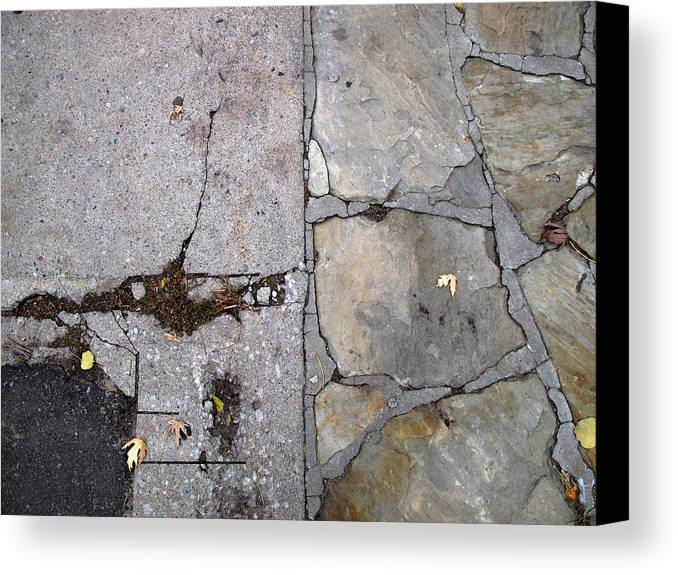 Urban Canvas Print featuring the photograph Walkways by Lyle Crump