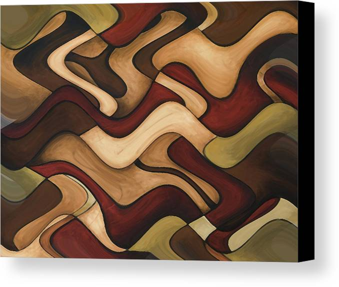 Red Canvas Print featuring the painting Warm Earth by Vicky Brago-Mitchell
