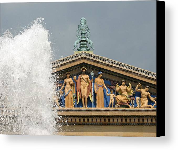 Philadelphia Canvas Print featuring the photograph Waterpark Gods by Kevin Sherf
