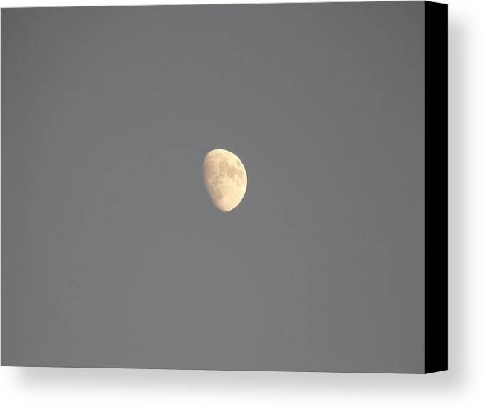 Waxing Canvas Print featuring the photograph Waxing Moon by Valerie Ornstein