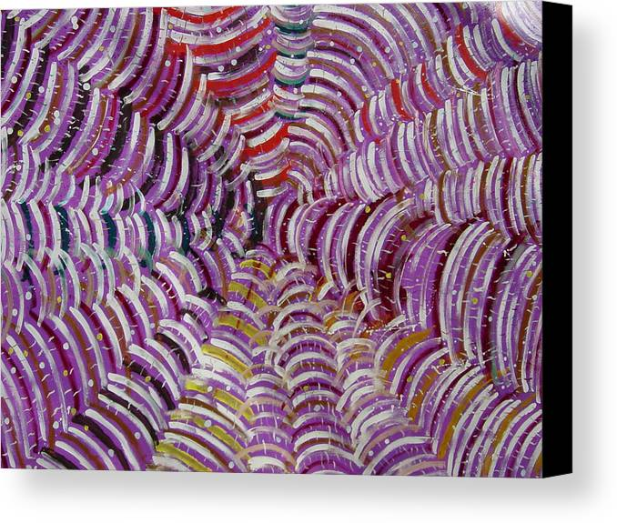 Canvas Print featuring the painting Web by Biagio Civale