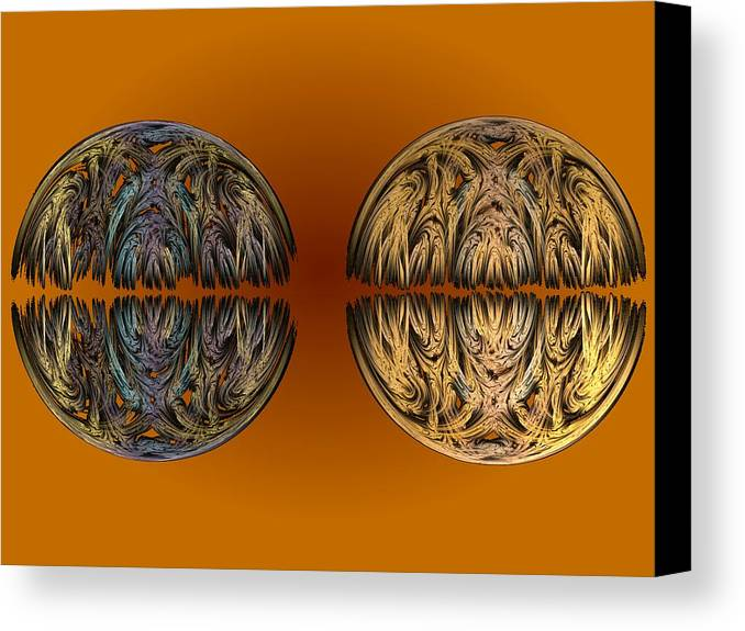 Icon Canvas Print featuring the digital art When Worlds Collide by Ricky Kendall