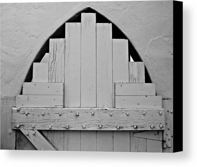 White Canvas Print featuring the photograph White Door by Patricia Strand