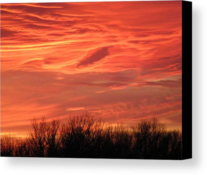 Sunset Canvas Print featuring the photograph Who Needs Jupiter by Gale Cochran-Smith
