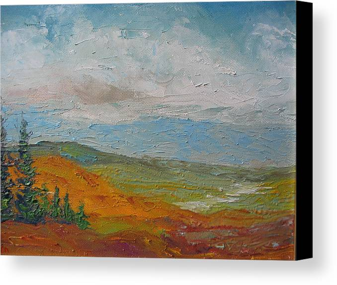 Landscape Canvas Print featuring the painting Wilderness by Belinda Consten