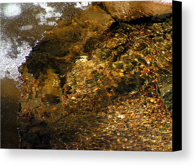Ice Water Creek Rocks Beauty Colorado Change Zen Simple Canvas Print featuring the photograph Winter Leaving by George Tuffy