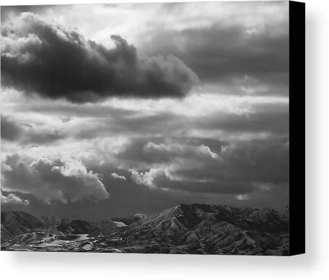 Salt Lake City Canvas Print featuring the photograph Winter Sky by Rona Black