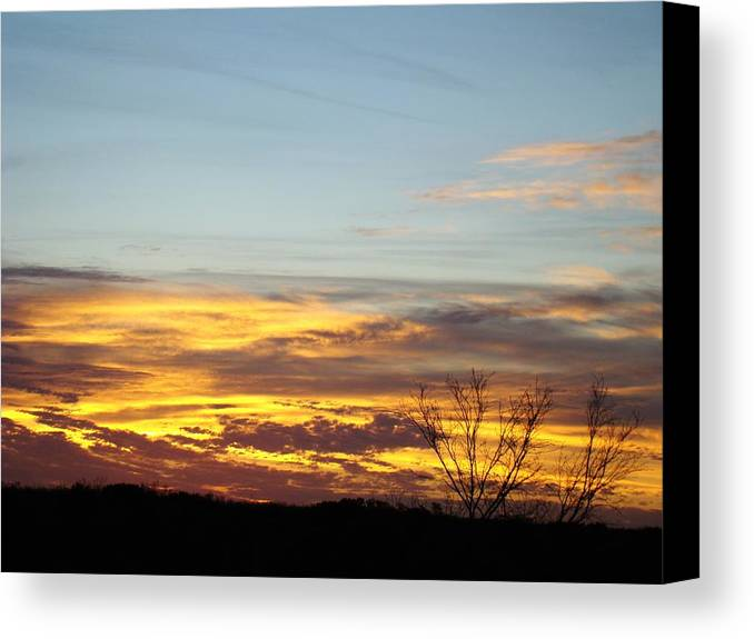 Scenic Canvas Print featuring the photograph Winter Sunrise One by Ana Villaronga