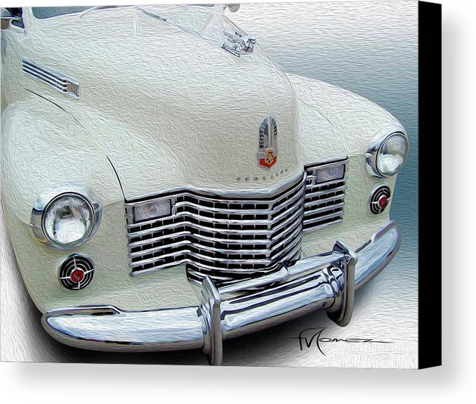 Classic Automobiles Canvas Print featuring the photograph With Style by Felipe Gomez