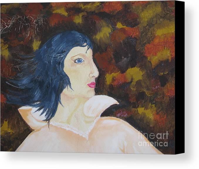 Art Canvas Print featuring the painting Women - Fragment by Svetlana Vinokurtsev