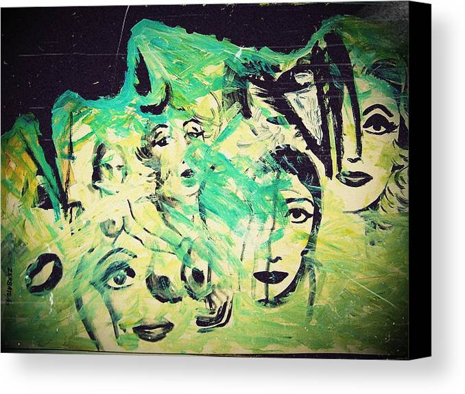 Women Canvas Print featuring the mixed media Women by Paulo Zerbato
