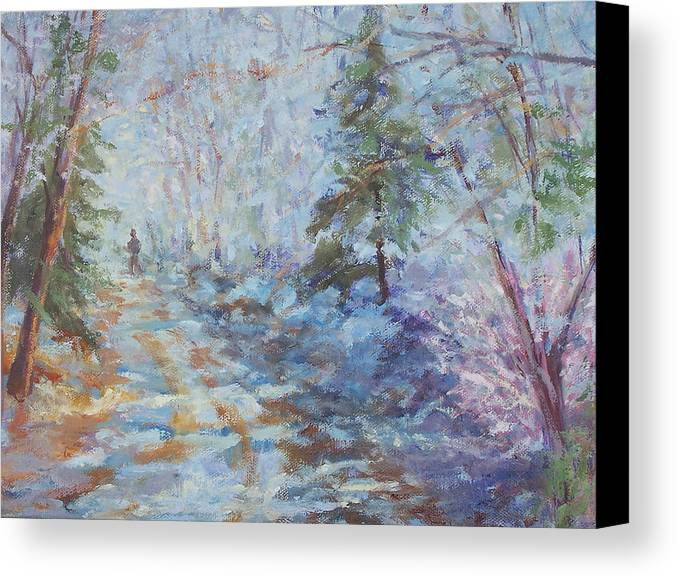 Winter Canvas Print featuring the painting Wonderland by Alicia Drakiotes