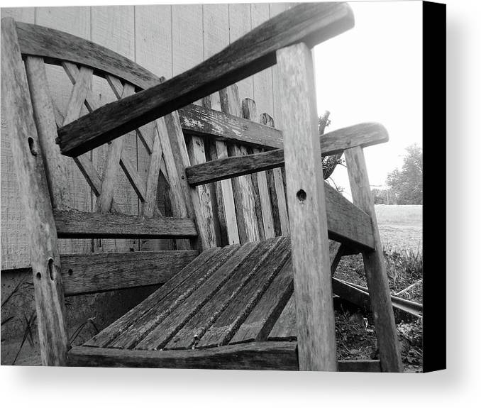 Chair Canvas Print featuring the photograph Wooden Chair by Ali Dover