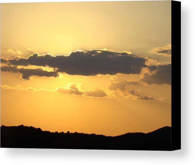 Yellow Canvas Print featuring the photograph Yellow Sky Two by Ana Villaronga