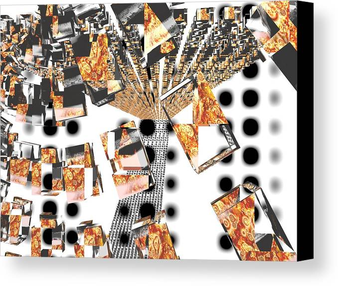 Abstraction Canvas Print featuring the digital art You Re Drunk Hit The Floor by Milija Jakic