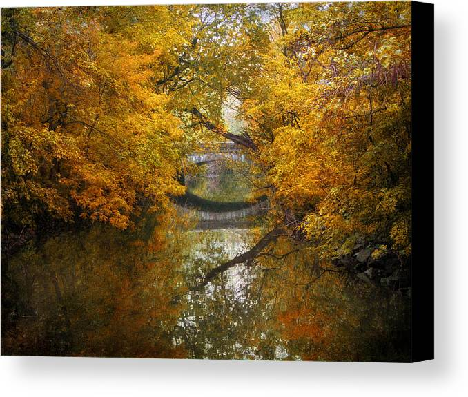 Bridge Canvas Print featuring the photograph Country Bridge by Jessica Jenney