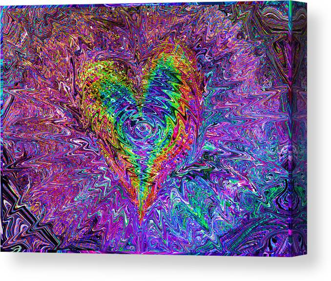 Valentines Canvas Print featuring the mixed media Love From The Ripple Of Thought V 5 by Kenneth James