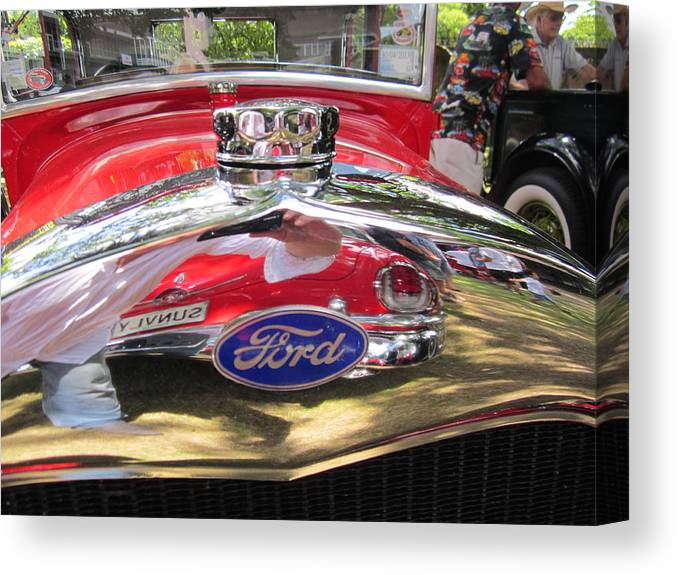 Ford Canvas Print featuring the photograph Ford Classic Car by Max Lines