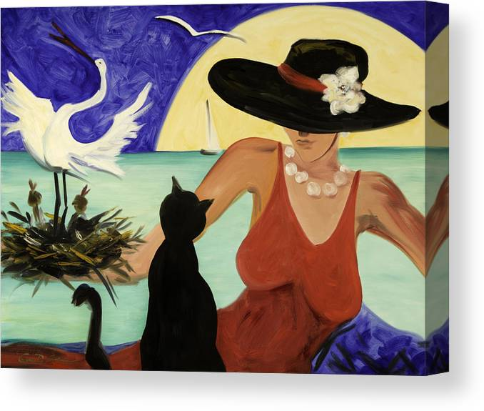 Colorful Art Canvas Print featuring the painting Living The Dream by Gina De Gorna