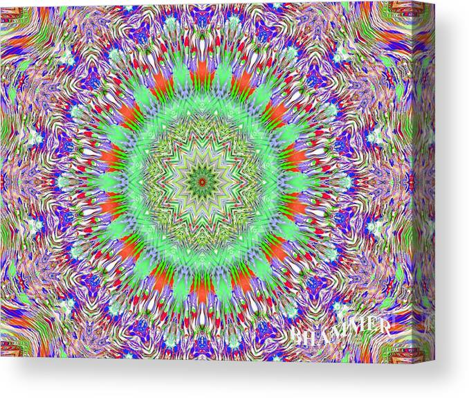 Colorful Canvas Print featuring the digital art Q Tips by Bobby Hammerstone