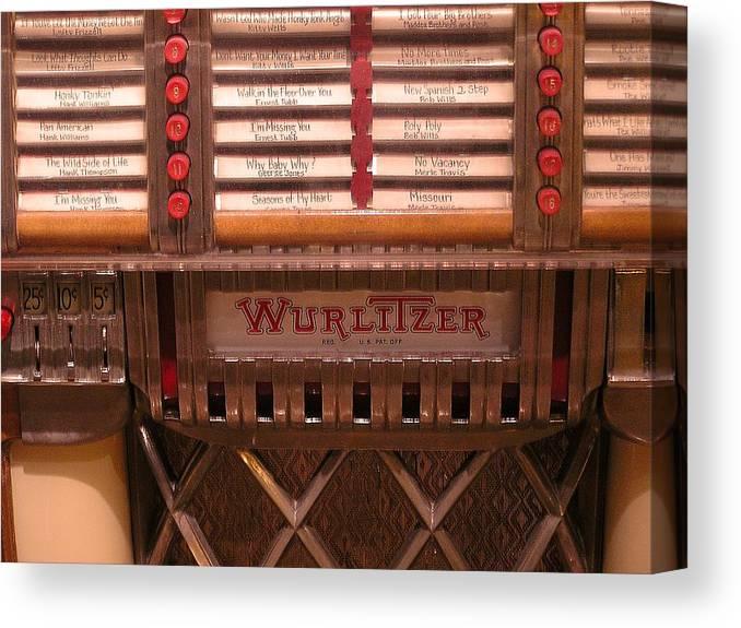 Vintage Canvas Print featuring the photograph Wurlitzer Player by Douglas Settle