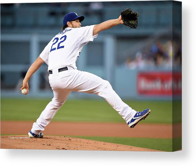 People Canvas Print featuring the photograph Colorado Rockies V Los Angeles Dodgers 2 by Harry How