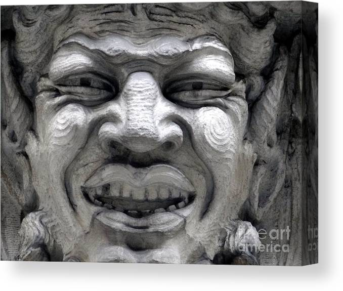 Ansonia Canvas Print featuring the photograph Devilish Smile by Ed Weidman