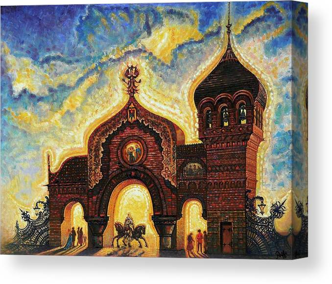 Great Gate Of Kiev Canvas Print featuring the painting Great Gate Of Kiev by Raffi Jacobian