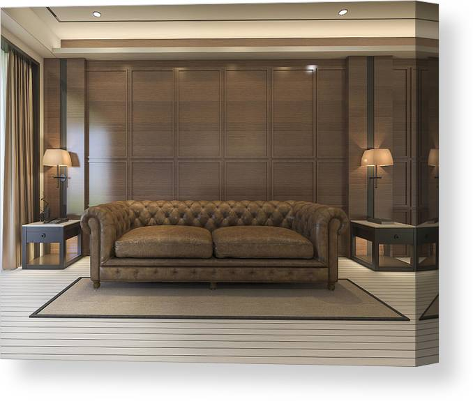 3d Rendering Classic Sofa With Luxury Decor And Nice Furniture Canvas Print