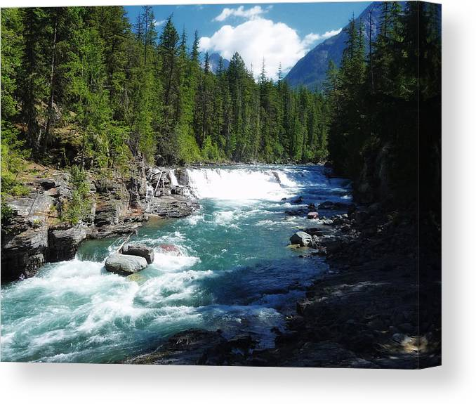 Montana Canvas Print featuring the photograph A Slice Of Montana by Mountain Dreams