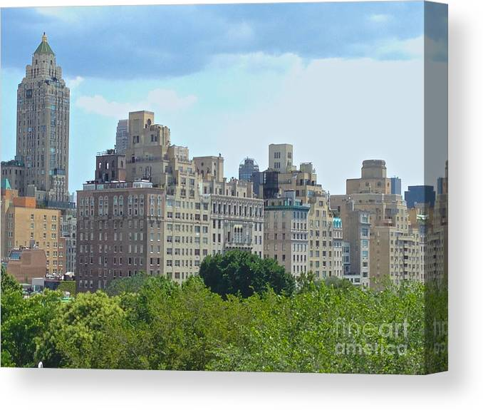 Met Canvas Print featuring the photograph A View From The Met by Christy Gendalia