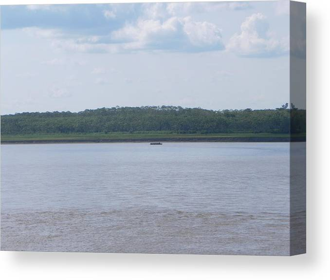 Amazon Canvas Print featuring the photograph Amazon Riverbank by R Alexander Calahan