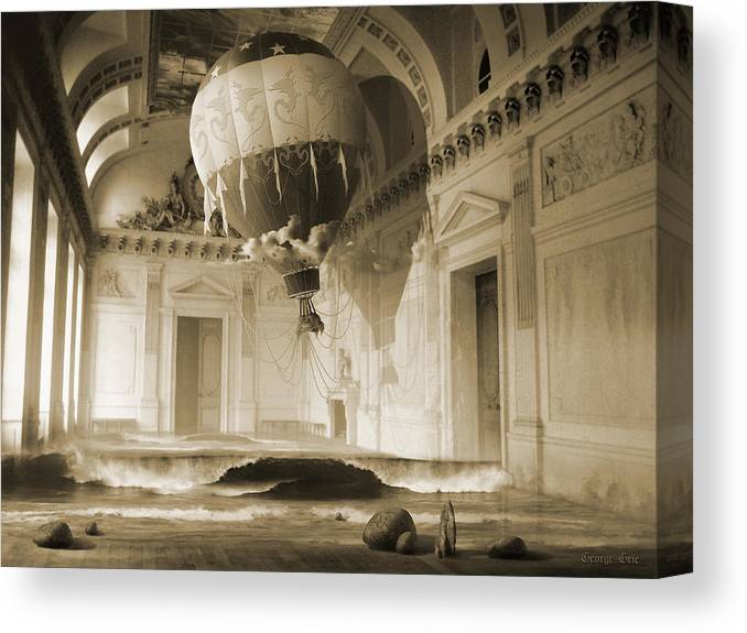 Balloon Canvas Print featuring the digital art Arrested Expansion Or Cardiac Arrest by George Grie