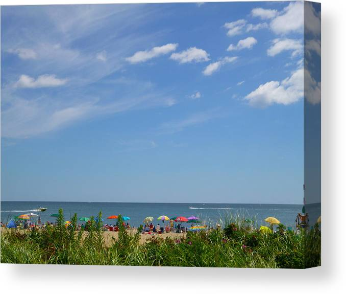 Summer Canvas Print featuring the photograph At The Beach 2 by Ellen Paull