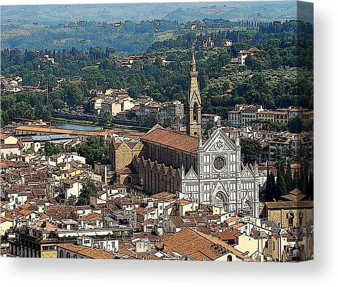 Florence Canvas Print featuring the photograph Bella Firenze by Zinvolle Art