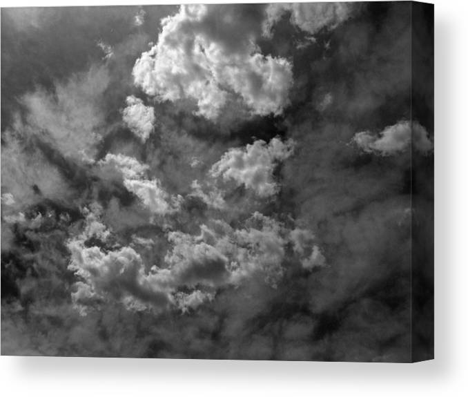 Clouds Canvas Print featuring the photograph Angry Clouds by Robert VanDerWal