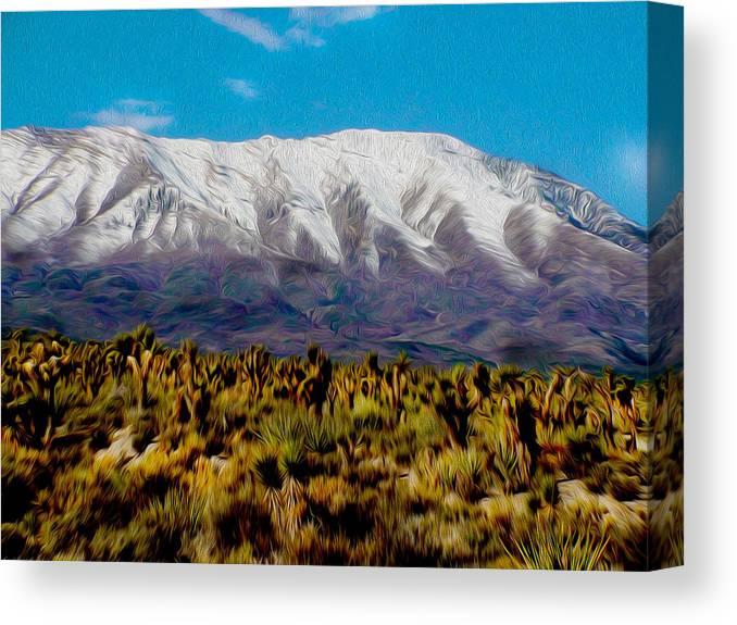 Canvas Print featuring the mixed media Cold Creek Canyon Nv by Brenda Harrah