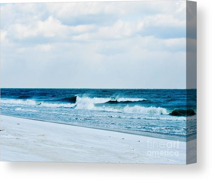 Ocean City Canvas Print featuring the photograph Cold Ocean Waves by Lana Hauser