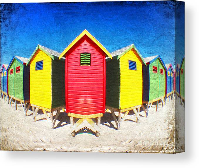 Beach Huts Canvas Print featuring the photograph Color Reflected by Neil Overy