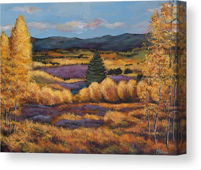 Autumn Aspen Canvas Print featuring the painting Colorado by Johnathan Harris