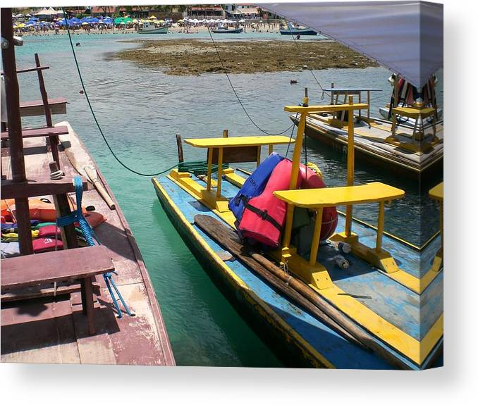 Boat Canvas Print featuring the photograph Colorfull Boat by Marina T P Levy