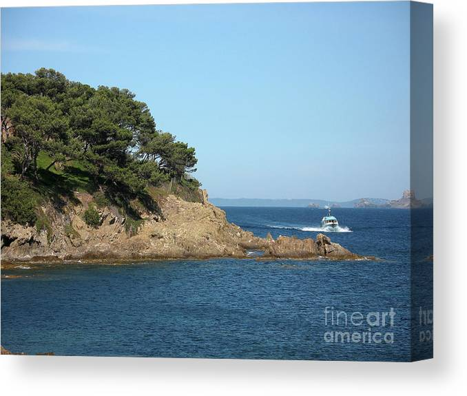 Fishing Boat Canvas Print featuring the photograph Coming Back by Christiane Schulze Art And Photography