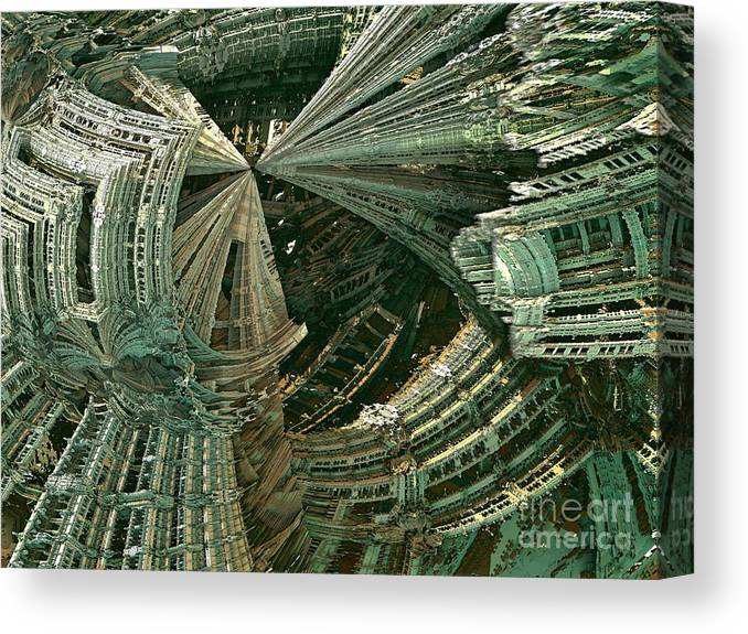 Fractal Art Canvas Print featuring the digital art Curvy World by Bernard MICHEL