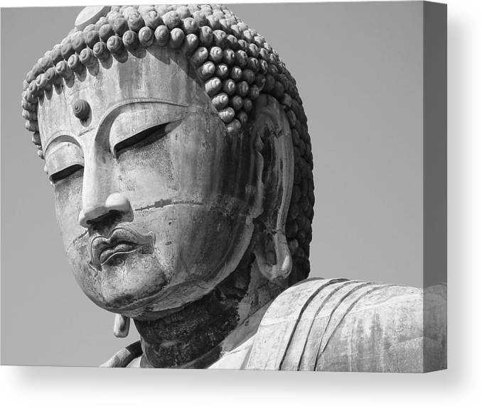 Daibutsu Canvas Print featuring the photograph Daibutsu 2 by Larry Knipfing