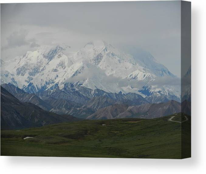 Denali Canvas Print featuring the photograph Denali by Karen Molenaar Terrell